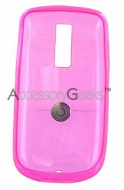 T-Mobile MyTouch 3G Crystal Silicone Case, Rubber Skin - Transparent Magenta
