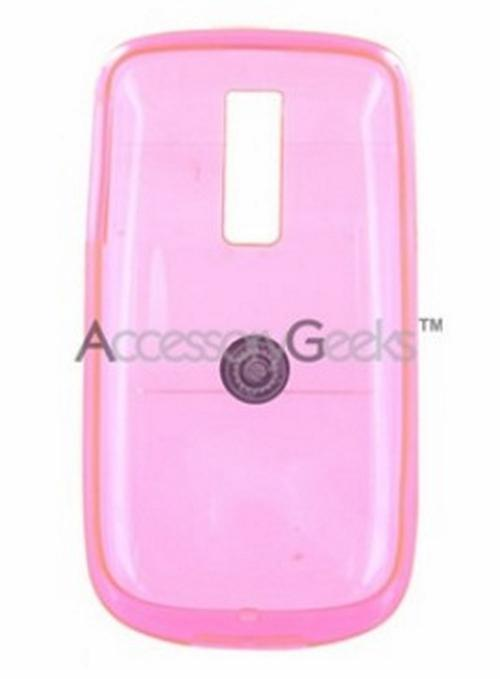 T-Mobile MyTouch 3G Crystal Silicone Case, Rubber Skin - Transparent Pink