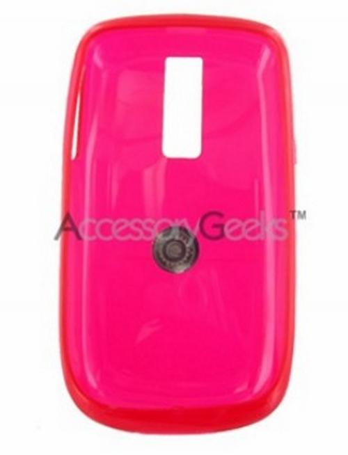 T-Mobile MyTouch 3G Crystal Silicone Case, Rubber Skin - Transparent Red