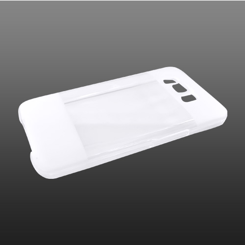 HTC HD2 Crystal Silicone Case, Rubber Skin - 2 Tone Transparent Clear