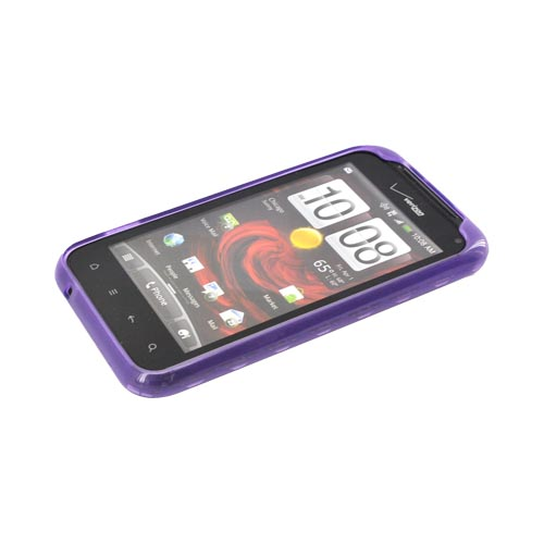 HTC Droid Incredible 2 Crystal Silicone Case - Argyle Purple