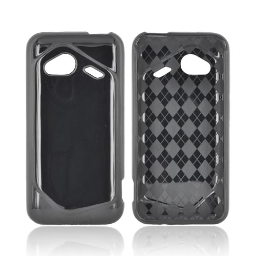 HTC Droid Incredible 4G Crystal Silicone Case - Argyle Black