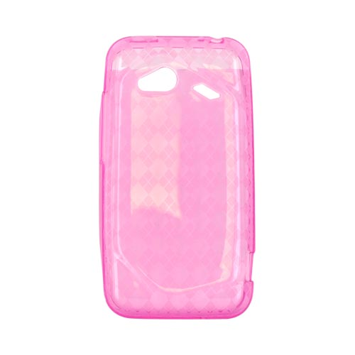HTC Droid Incredible 4G LTE Crystal Silicone Case - Argyle Pink