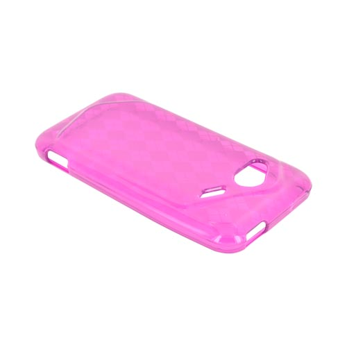 HTC Droid Incredible 4G Crystal Silicone Case - Argyle Purple