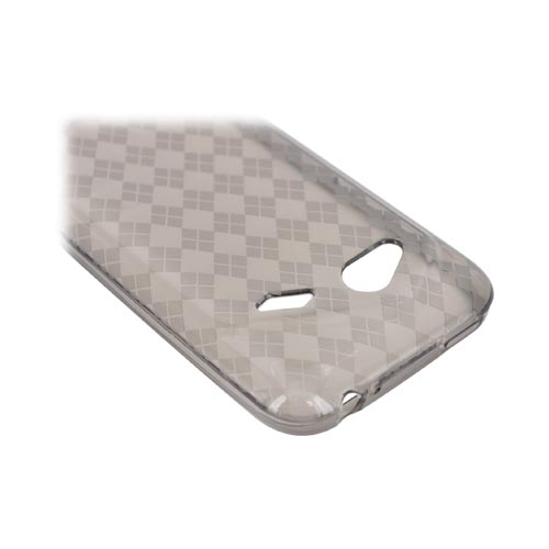 HTC Droid Incredible 4G Crystal Silicone Case - Argyle Smoke