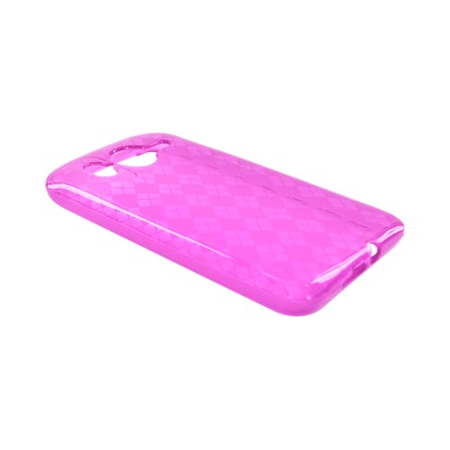 HTC Inspire 4G Crystal Silicone Case - Argyle Hot Pink