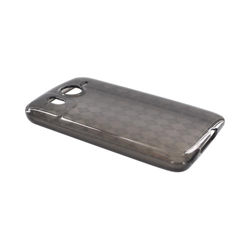 HTC Inspire 4G Crystal Silicone Case - Argyle on Smoke