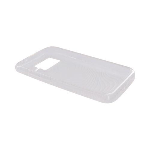 HTC Inspire 4G Crystal Silicone Case - Transparent Clear Waves