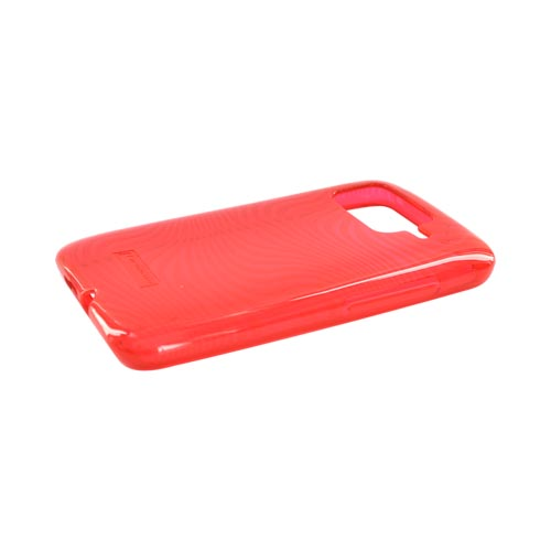 HTC Inspire 4G Crystal Silicone Case - Red Waves