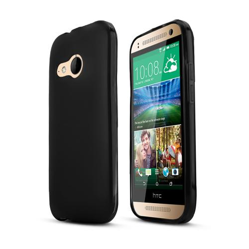 Black HTC One Remix Flexible Crystal Silicone TPU Case - Conforms To Your Phone Without Stretching Out!