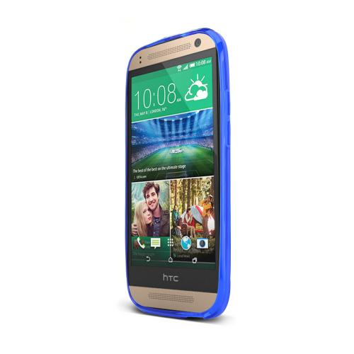 Blue HTC One Remix Flexible Crystal Silicone TPU Case - Conforms To Your Phone Without Stretching Out!