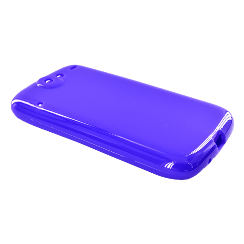 Google Nexus One Crystal Silicone Case - Solid Purple