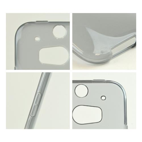 Smoke/ Frost Crystal Silicone TPU Flexible Skin Case w/ Free Screen Protector for HTC One (M8)