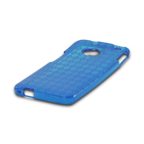 Argyle Blue Crystal Silicone Case for HTC One