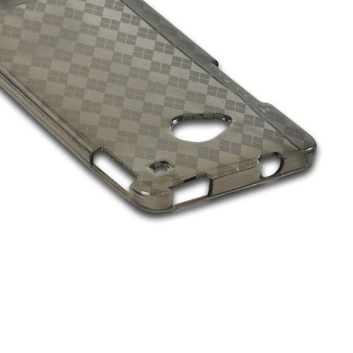 Argyle Smoke Crystal Silicone Case for HTC One