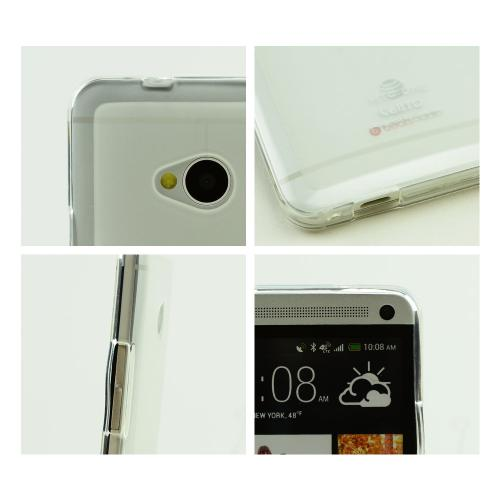 Clear/ Frosted Matte Crystal Silicone Skin Case for HTC One