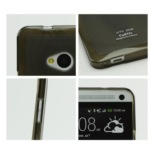Smoke/ Frosted  Matte Crystal Silicone Skin Case for HTC One