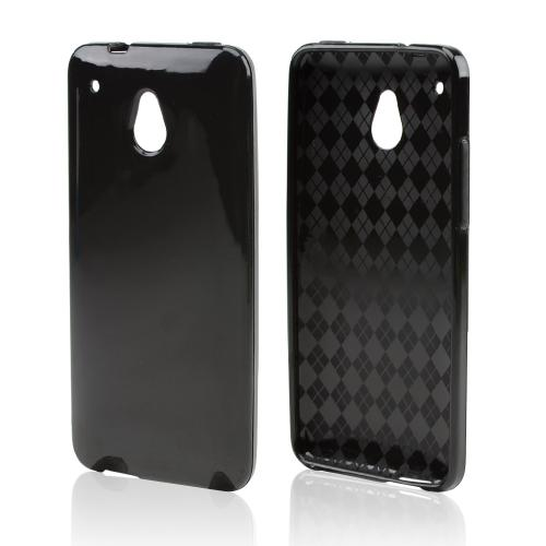 Black Crystal Silicone Skin Case for HTC One Mini