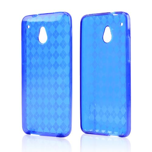 Blue Crystal Silicone Skin Case for HTC One Mini