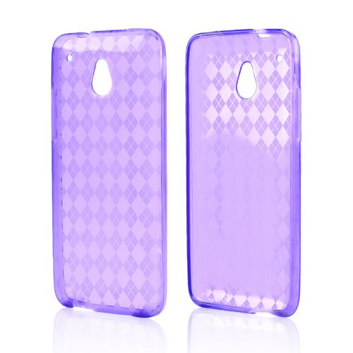 Purple Crystal Silicone Skin Case for HTC One Mini