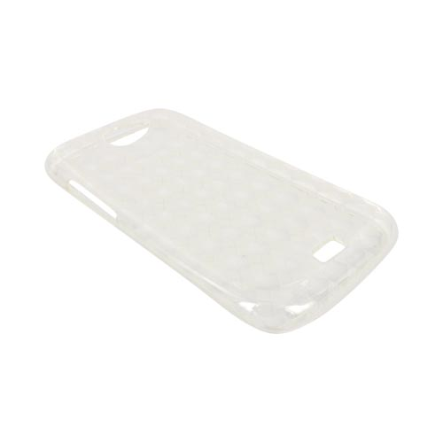 HTC One S Crystal Silicone Case - Argyle Clear