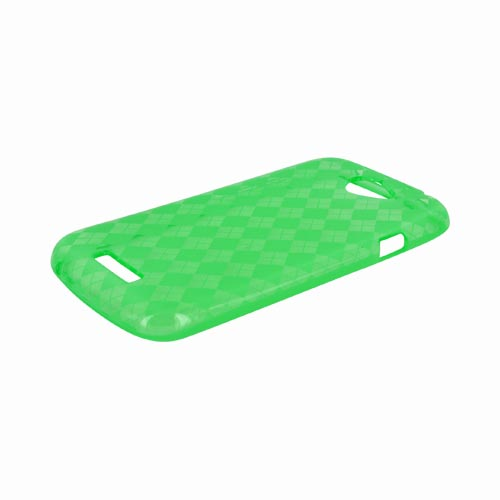 HTC One S Crystal Silicone Case - Argyle Green