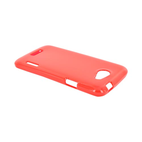HTC One S Crystal Silicone Case - Argyle Red