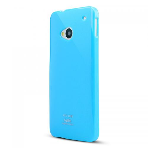 Sky Blue Crystal Silicone Skin Case for HTC One