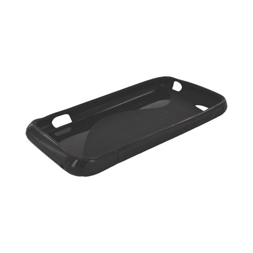 HTC One V Crystal Silicone Case - Black S