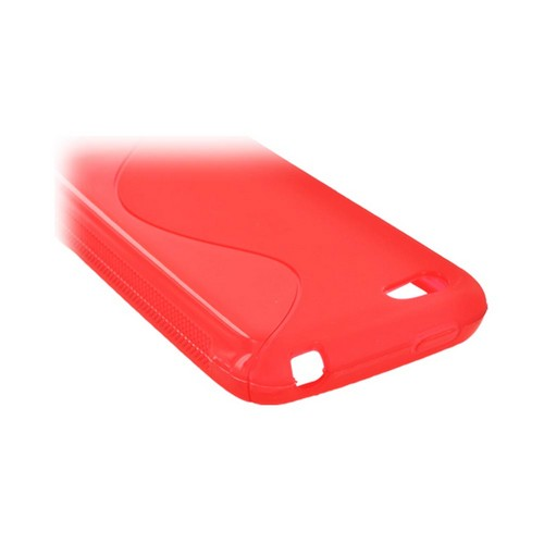 HTC One V Crystal Silicone Case - Red S