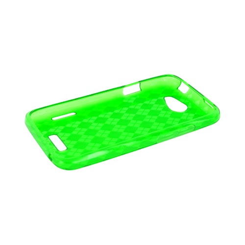 HTC One X Crystal Silicone Case - Argyle Green