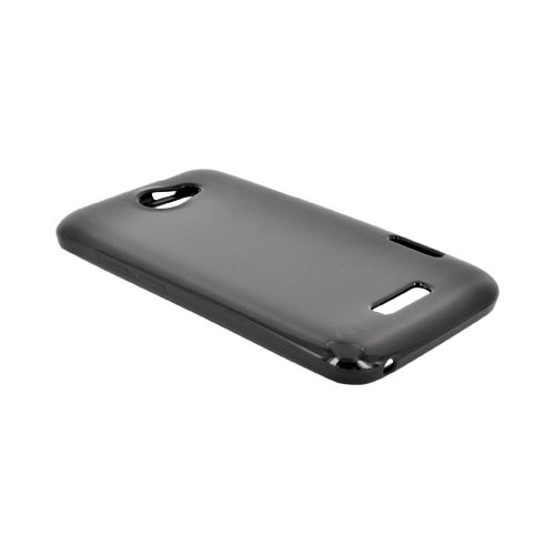 HTC One X Crystal Silicone Case - Black (Argyle Interior)