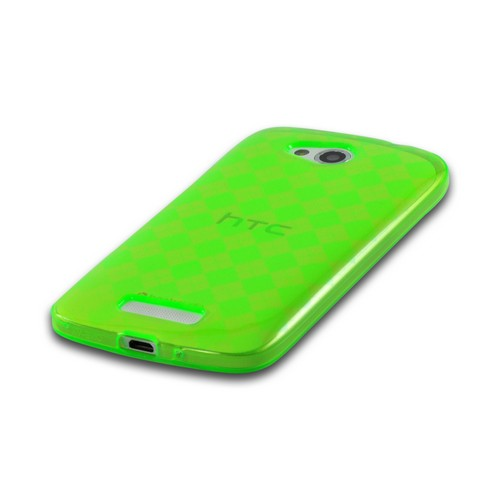 Argyle Green Crystal Silicone Case for HTC One VX