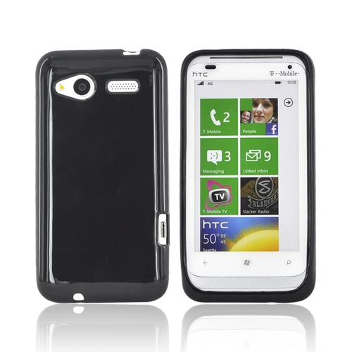 HTC Radar 4G Crystal Silicone Case - Black (Argyle Interior)