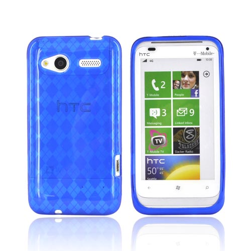 HTC Radar 4G Crystal Silicone Case - Argyle Blue