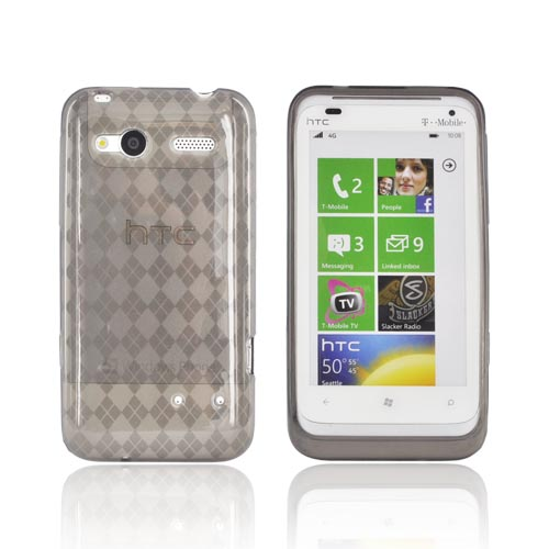 HTC Radar 4G Crystal Silicone Case - Argyle Smoke