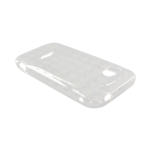 HTC Rezound Crystal Silicone Case - Argyle Clear