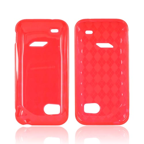 HTC Rezound Crystal Silicone Case - Argyle Red