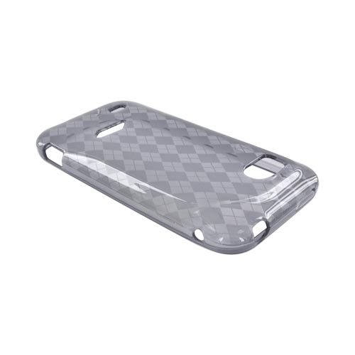 HTC Rezound Crystal Silicone Case - Argyle Smoke