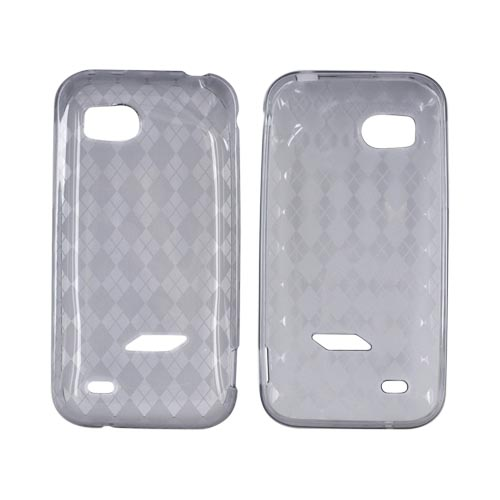 Manufacturers HTC Rezound Crystal Silicone Case - Argyle Smoke Silicone Cases / Skins
