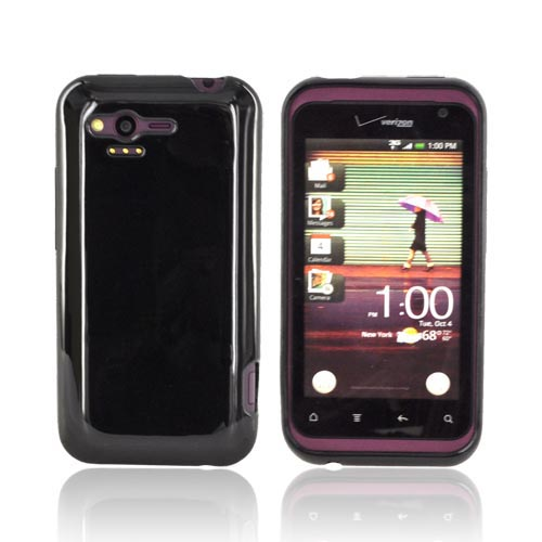HTC Rhyme Crystal Silicone Case - Black (Argyle Interior)