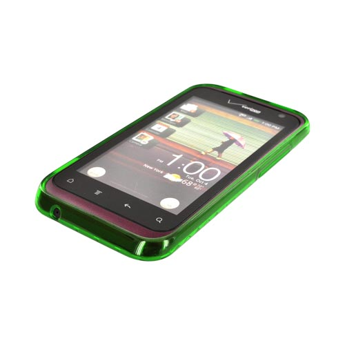 HTC Rhyme Crystal Silicone Case - Argyle Green