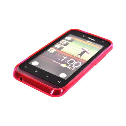 HTC Rhyme Crystal Silicone Case - Argyle Hot Pink