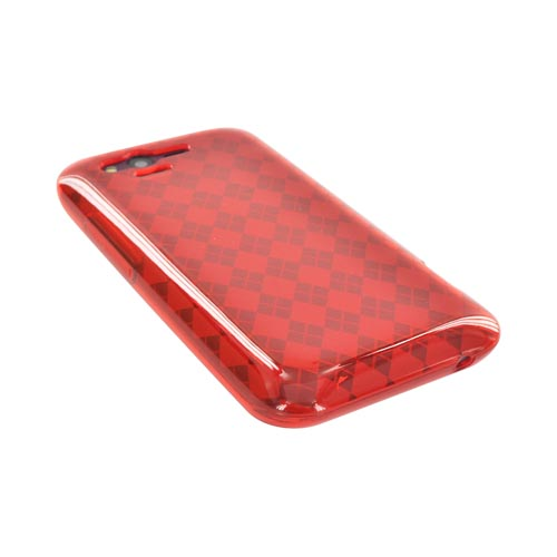HTC Rhyme Crystal Silicone Case - Argyle Red