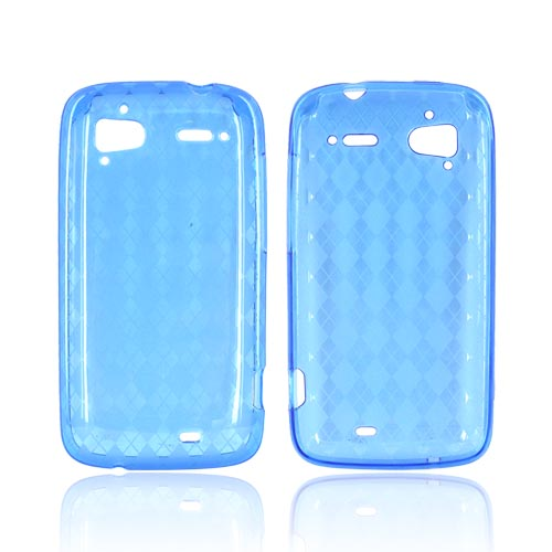 HTC Sensation 4G Crystal Silicone Case - Argyle Blue
