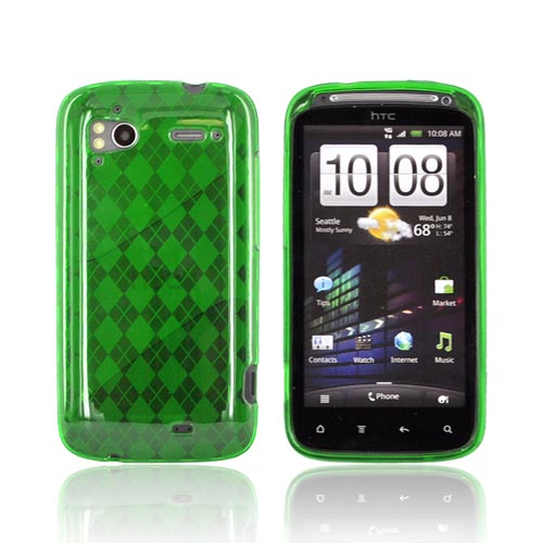 HTC Sensation 4G Crystal Silicone Case - Argyle Green