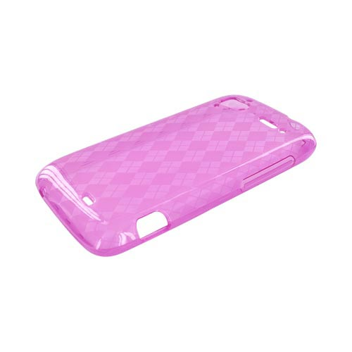 HTC Sensation 4G Crystal Silicone Case - Argyle Pink