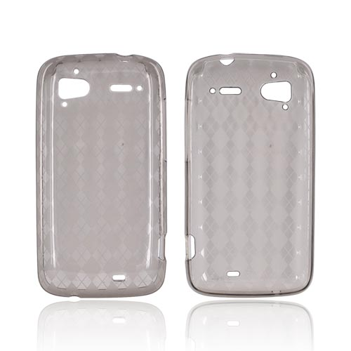HTC Sensation 4G Crystal Silicone Case - Argyle Smoke