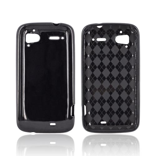 HTC Sensation 4G Crystal Silicone Case - Black (Argyle Interior)