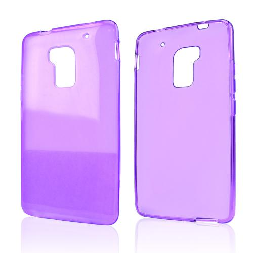 Purple Crystal Silicone Skin Case for HTC One Max